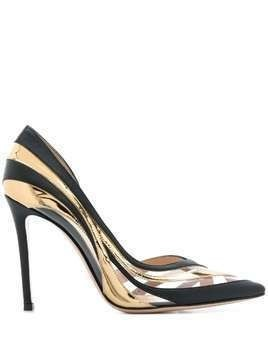 Gianvito Rossi wavy design pump shoes - Black