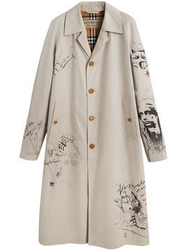 Burberry - Sketch Print Car Coat - Herren - Cotton/Acetate/Viscose - 52 - Grey