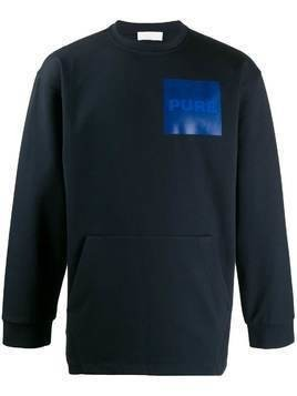 Haikure Jay chest-patch sweatshirt - Blue