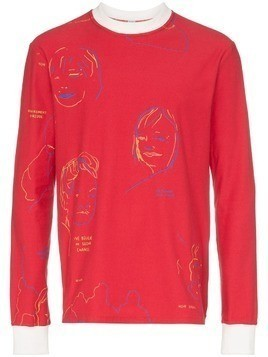 Bethany Williams Portraits print T-Shirt - Red