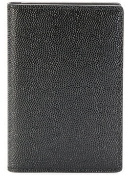 Common Projects - logo stamp folio wallet - Herren - Calf Leather - One Size - Black