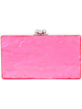 Edie Parker rectangular box clutch - Pink