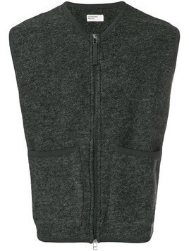 Universal Works front pocket zipped vest - Grey