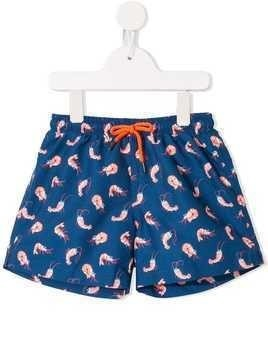 Sunuva shrimp print swim shorts - Blue