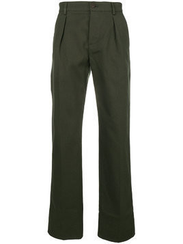 Fortela straight-leg pleated trousers - Green
