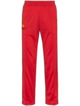 Charm's flame logo stripe track pants - Red