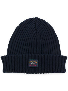 Paul & Shark ribbed beanie - Blue