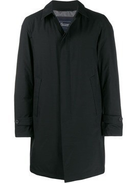 Herno single-breasted parka coat - Black