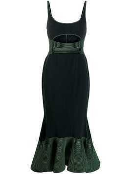 David Koma cut-out midi dress - Black