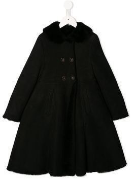 Dolce & Gabbana Kids oversized double-breasted coat - Black