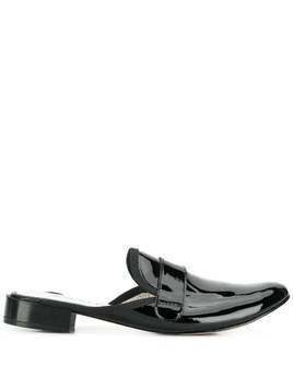 Repetto patent penny loafer mules - Black