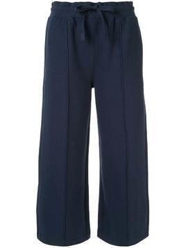 CK Calvin Klein cropped length track pants - Blue