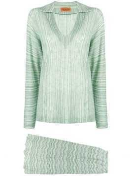 Missoni Pre-Owned ribbed knitted skirt set - Green