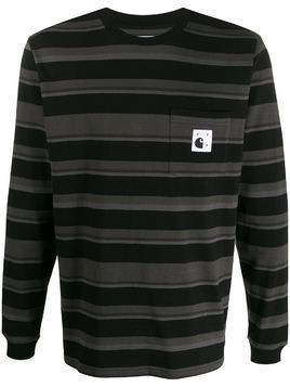 Carhartt WIP x Pop Trading Co striped T-shirt - Black