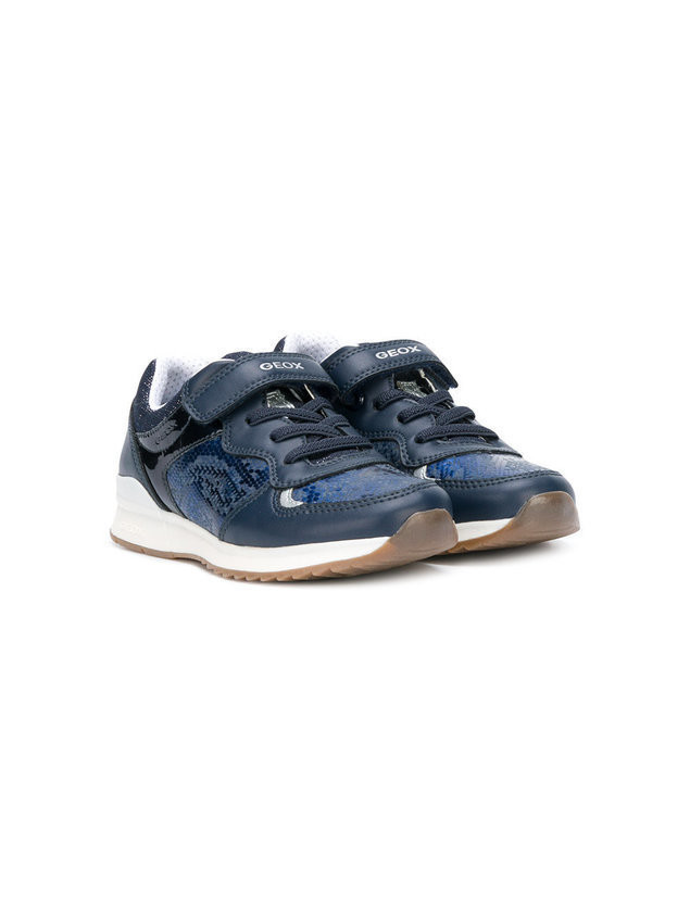 Geox snakeskin effect touch strap sneakers - Blue