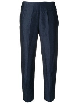 Gentry Portofino creased cropped trousers - Blue