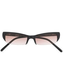 Vivienne Westwood slim rectangular-frame sunglasses - Black