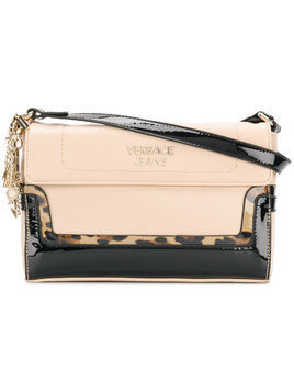 Versace Jeans panelled shoulder bag - Black