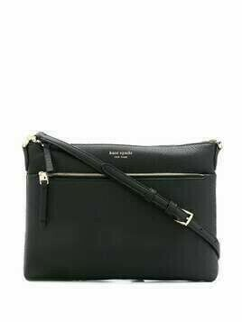 Kate Spade Polly logo print medium crossbody bag - Black