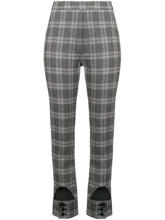 Ellery checked high waist trousers - Black