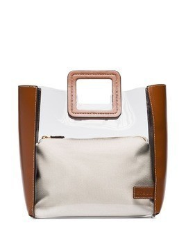 Staud Shirley two-tone tote - Brown