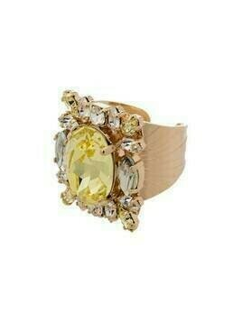 Anton Heunis crystal cluster ring - Yellow