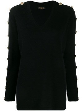 Max & Moi buttoned sleeves jumper - Black