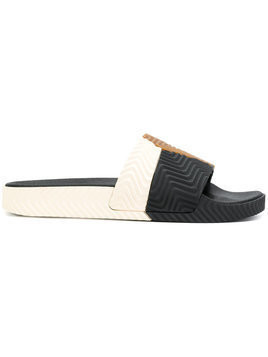 Adidas Originals By Alexander Wang - Adilette sliders - unisex - Leather/rubber - 3 - Black