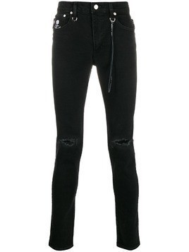 Mastermind Japan ripped skinny jeans - Black