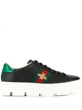 9d73ad9a61f317 Gucci Ace embroidered platform sneakers - Black