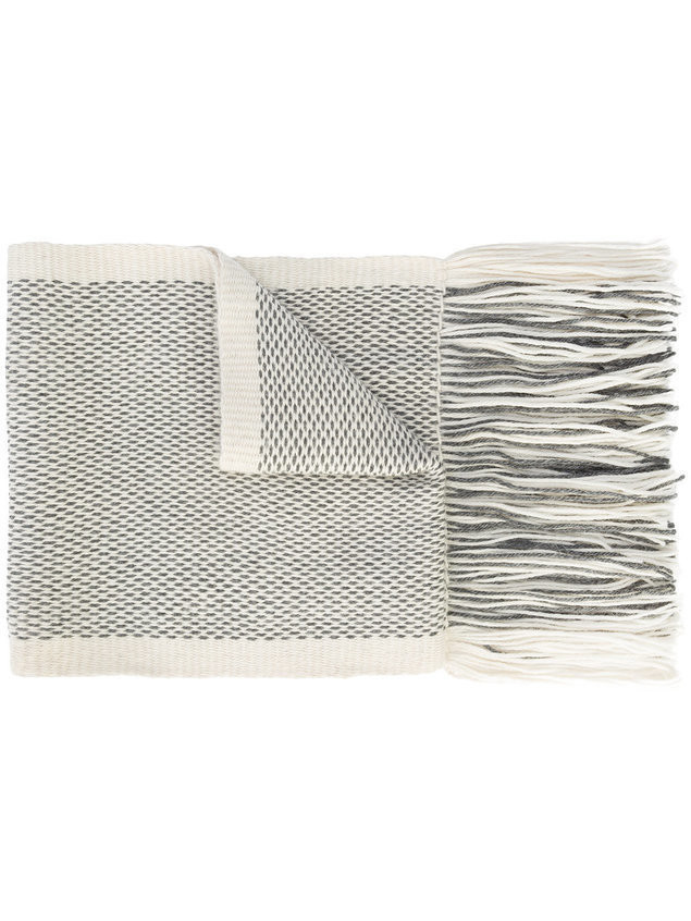 VOZ micro patterned scarf - White
