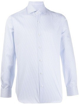 Barba pinstripe button shirt - Blue