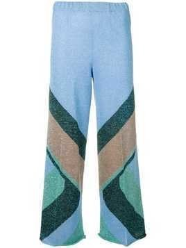 Circus Hotel patterned crop trousers - Blue