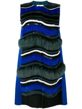 Fendi wave pattern gilet - Blue