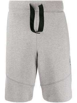 Raeburn logo embroidered track shorts - Grey