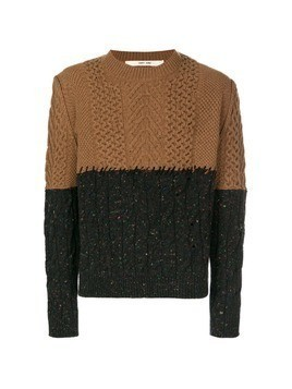 Damir Doma two-tone oversized sweater - Brown