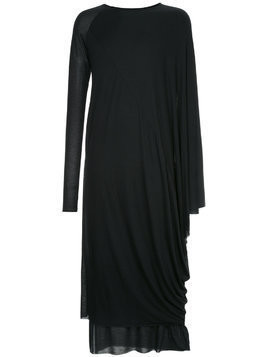 Army Of Me draped super long sweatshirt - Black