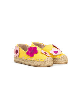 Minna Parikka Kids 3D flower detail espadrilles - Yellow