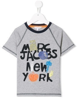 Little Marc Jacobs New York print t-shirt - Grey
