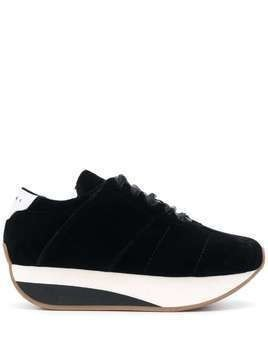 Marni platform lace-up sneakers - Black