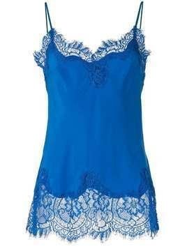 Gold Hawk lace trimmed cami top - Blue