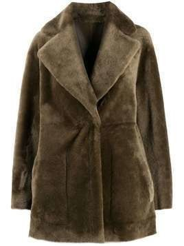 Blancha reversible single-breasted coat - NEUTRALS