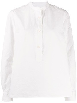 Margaret Howell mandarin collar shirt - White