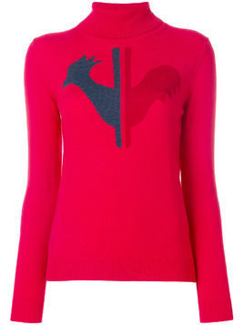 Rossignol logo patch sweater - Red