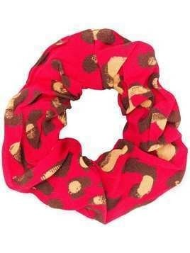 Andamane leopard pattern hair band - Red