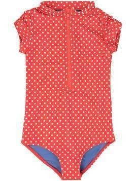 Duskii Girl Anise dotted swimsuit - Red