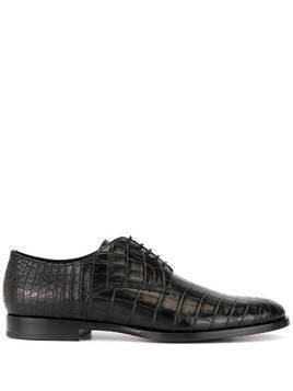 Dolce & Gabbana croc-effect Derby shoes - Black