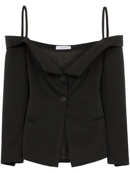 Delada off-the-shoulder blazer top - Black