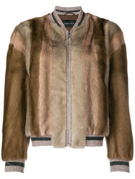 Cara Mila fur bomber jacket - Brown
