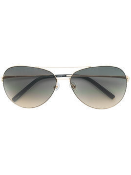 Matthew Williamson Aviator gradient sunglasses - Gold/Grey